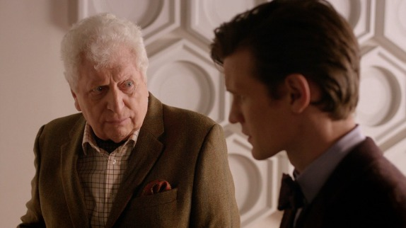Tom Baker in a cameo role in the Doctor Who 50th Anniversary special from 2013.